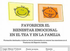 Curso Favoreciendo el Bienestar Emocional en el TEA y la Familia. Abril 2018